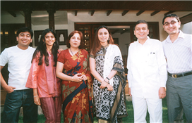 Rajendra Darda with actress Rani Mukherjee at Darda Residence.