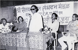 Rajendra Darda with music composer Ravindra Jain